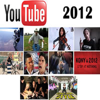 Os 10 Vídeos mais vistos no YouTube em 2012