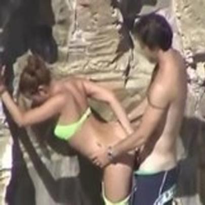 Flagrado fazendo sexo gostoso na praia
