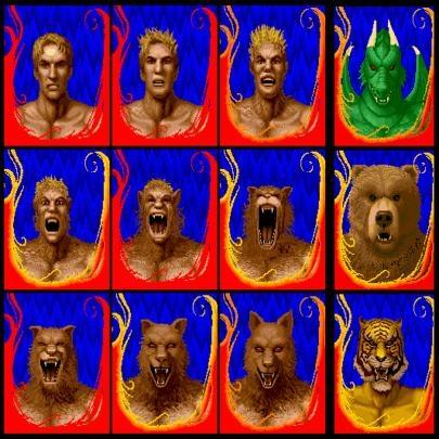 Imagens de jogos de video game e arcade antigo...