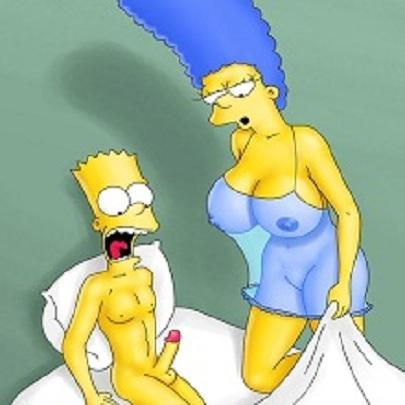 Marge Simpson Nua Fazendo Incesto