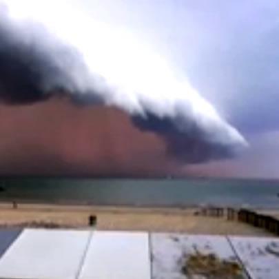 Flagrante de tempestade na Bélgica