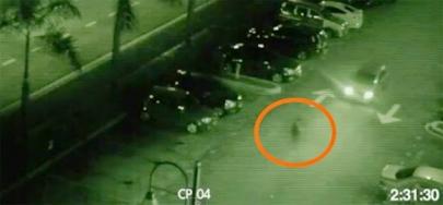 Vídeo de um fantasma sendo atropelado