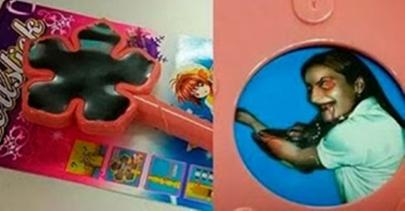O brinquedo que levava uma imagem escondida de...