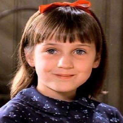 Antes e depois dos atores do filme Matilda